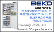 CDA751FS Beko Fridge Freezer