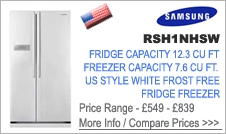 Samsung  RSH1NHSW  Fridge Freezer